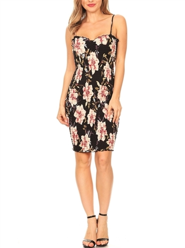 floral_smocked_bodycon_dress