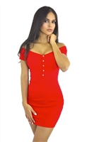 Red_off_shoulders_button_dress