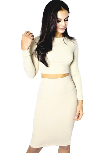 sexy_nude_long_sleeved_crop_skirt_set