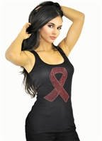 sexy_black_bejeweled_pink_ribbon_seamless_tank_top