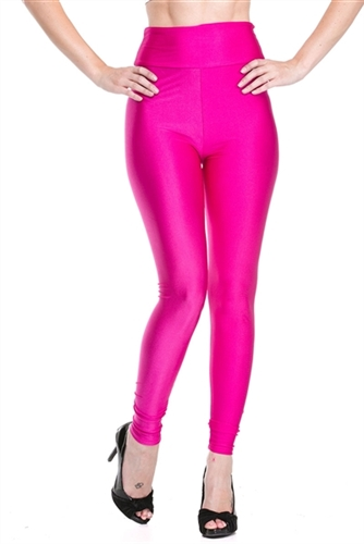 trendy hot pink shiny seamless leggings, festival pink seamless party leggings to holiday clubbin legging or party legging, super instyle party leggings, clubbing fashion leggings, shiny high waist seamless leggings are instyle, trendy leggings, hot pant