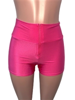 Hot_Pink_zipper_front_short_shorts