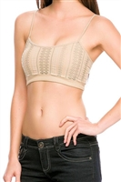 sexy tan textured lined seamless bra tops, layering tops, festival tops in tan nude hue for layering, seamless cut-out bra top for under kimono tops, easy bra tops that are fitted and super sexy cleavage tops for festival party or casual wear top, basic