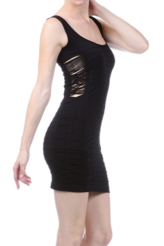 black bodycon bandage style mini dress is super stretchy and fitted, sexy little black seamless mini dress is an instyle dress, fashion trendy cut-out short dress is a fitted seamless body con dress, going out dress, classy short fitted party dresses