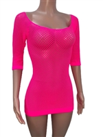 sexy_pink_seamless_net_tunic_tops