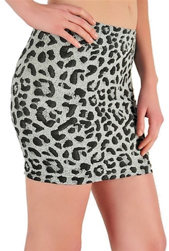 sexy leopard seamless pencil bodycon mini skirts