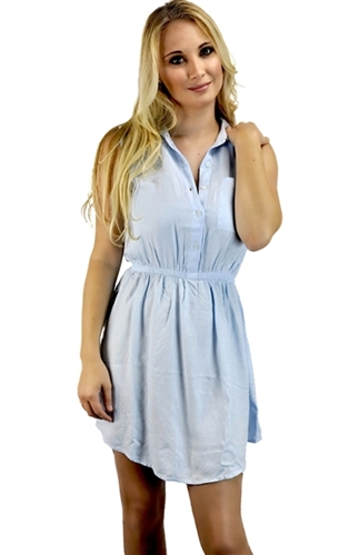 sexy_blue_casual_shirt_dress