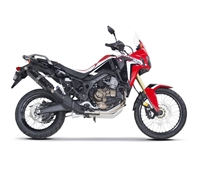2017 Honda Africa Twin Two Brothers Racing Slip On Exhaust System S1 Black Series with S1R Carbon Fiber Canister (005-4520407-S1B)