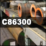 "CUT TO LENGTH - C86300 Manganese Bronze Cored Bar| 2-1/2"" I.D. x 3"" O.D."