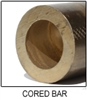 "CUT TO LENGTH - C93200 Bronze Cored Bar| 8-1/2"" I.D. x 9-1/2"" O.D."