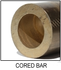 "CUT TO LENGTH - C93200 Bronze Cored Bar| 2-1/8"" I.D. x 2-3/4"" O.D."