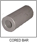 "SAE 863, Cored Bar, 1""O.D. x 1/2""I.D. x  5"" Long (Sintered Iron-Copper, Oversized)"