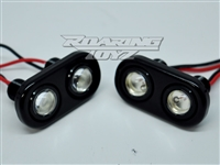 2 Bulb LED Billet Taillights Red Lights Pods Plates