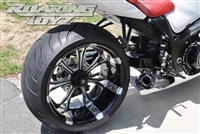 Hayabusa 300 Billet OSD Single Sided Swingarm Kit Black Chrome Suzuzki Fat wide tire extended arm 300 custom wheels 17x3.5 18x10.5 complete outside drive one chain performance