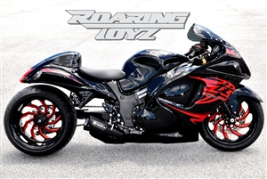 Hayabusa 330 Billet OSD Single Sided Swingarm Kit Black Chrome Suzuzki Fat wide tire extended arm 300 custom wheels 17x3.5 17x12 complete outside drive one chain performance