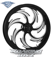 Assault Eclipse Black Forged Aluminum R.C. Components Custom Billet CNC Wheel for Harley Road King Glide Street Glide Electraglide Ultra Classic Limited Tri Glide Breakout Dyna Softail 2010 2011 2012 2013 2014 2015 2016 2017 2018 2019 2020 Bagger Low