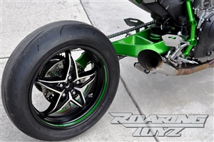 Kawasaki H2 H2R Extended Billet Single Sided Swingarm 2015 2016 2017 2018 Race Dragrace CNC Machined Custom