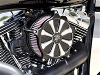 Big Twin Air Cleaner Intake Kit Straight 8 Black Contrast Cut Harley Davidson Twin Cam Sportster Touring Roadglide Streetglide Electra Glide Sportster Dyna Fat Boy Softail 96 103 Custom Performance Filter Bagger Classic Ultra Road King Glide TBW
