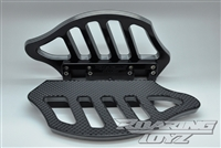 Billet Pin Stripe Passeneger Rear Floorboards Black Contrast Cut Harley Touring Models Bagger Street Glide Road King Electraglide Ultra Classic Softail Fat Boy Softtail FLTR FLHX FLHT FLST 2013 2012 2011 2010 2009 2008 2007 Boards Foot Rest Custom Rubber