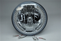 All In One Headlight with Turn Signals Harley 7 Inch Streetglide Electraglide Road King Fatboy Custom