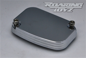 Brake Reservoir Cap Cover Billet Custom for Harley Davidson Streetglide Roadglide RoadKing UltraClassic Electraglide Trike Road King Street Glide Ultra Electra Classic FLH FLHX FLTR FLHT 2009 2010 2011 2012 2013 Chrome Plated Pin Stripe Series Touring