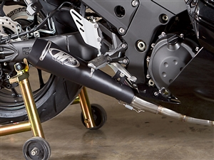12-18 Kawasaki ZX14R M4 GP Black 4-2-1 Full Exhaust System