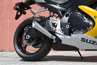 08-10 GSXR 600/750 Polished Stainless Steel Megaphone Exhaust