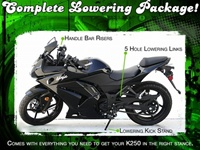 Kawasaki Ninja 250 Lowering Package Kit 2008 2009 2010 2011