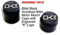 ZX14 Black Anodized Billet Motor Mount Bolt Cover Kit