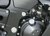 ZX14 Chrome Anodized Billet Motor Mount Bolt Cover Kit