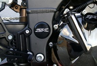 ZX 6/636/10 Black Ano Billet Swingarm Bolt Cover Cap Kit