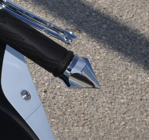 Chrome Arrow Point Bar Ends Kawasaki Fitment