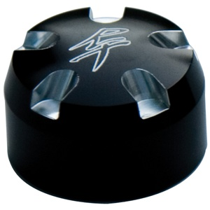 Fork Cap Set 24MM Black Anodized with RT Logo