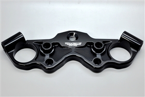 99-20 Hayabusa Racing Race Black Anodized Lowering Top Triple Clamp W/ Contrast Cut Pockets 1999 2000 2001 2002 2003 2004 2005 2006 2007 l2016 owered lower triple tree busa race weight light performance 2008 2009 2010 2011 2012 2013 2014 2015