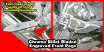 Custom Chrome GSXR/Hayabusa Blade Style Footpegs