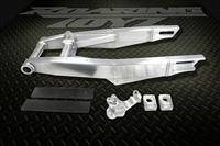 2011-2015 ZX10R Custom Aluminum Extended Swingarm 2012 11 12 13 Performance Stretched Swingarms Drag Race Racing Show Roaring Toyz Billet Black Powdercoat Chrome Polished Aftermarket ZX10 ZX-10 ZX10R Zed 1000 Adjustable 2014
