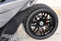 Custom Wheel Polaris Slingshot Performance Tire Package 19 Inch Wheels Style 16 Race Compound Tires Wide 325 Fat Rear Tire Toyo 888 Ultimate traction base sl model 2015 SS Forged Black Machined 19x12 rear 19x9 front racing light weight forged widest