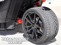 Custom Wheel Polaris Slingshot Performance Tire Package 20 Inch Wheels Style 40 Race Compound Tires Wide 325 Fat Rear Tire Toyo 888 Ultimate traction base sl model 2015 SS Forged Black Machined 20x12 rear 20x9 front racing light weight forged widest