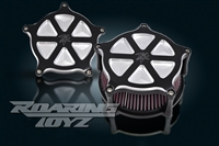 Kawasaki Vulcan Vaquero 1700 Roaring Toyz Black Straight Six Custom Air Cleaner Kit 2011 2012 2013 2010 2009 Voyager Classic Nomad LT ABS Intake Filter Performace Custom Billet 2014 2015 2016 2017 2018