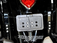 Kawasaki Vulcan 1700 Vaquero  Roaring Toyz Black Billet License Plate Tag Bracket Kit LED Light 2011 2012 2013 2010 2009 Voyager Classic Nomad LT ABS Custom Billet 2014 2015 2016 2017 2018 2019