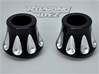 Kawasaki Vulcan vaquero 1700 billet custom front wheel spacers black anodized contrast cut fit 21x3.5 front wheel 21 inch front tire billet 21 inch fender brackets 2011 2012 2013 2014 2015 2016 abs custom forged wheels rim big tire 2017 2018