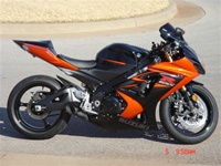 07-08 GSXR 1000 VooDoo Black Slip-On Exhaust
