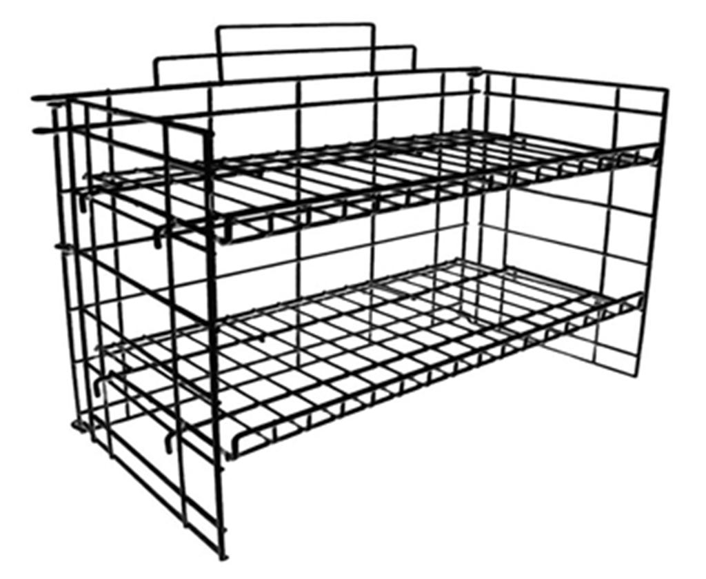 with display multi wire racks rack b undercounter h snack shelves use index