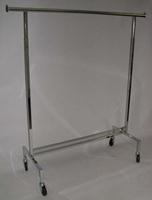 60 Inch L Adjustable Single Rail Clothing Rack
