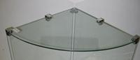 14 Inch Quarter Round Tempered Glass Shelves