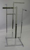 Rectangular Arms 4 Way Clothes Display Rack