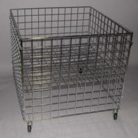 36 x 36 x 30 Grid Dumpbin Chrome Lot of1