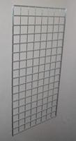 2 ft x 4 ft Chrome Grid Wall Panel 3 OC Lot of3