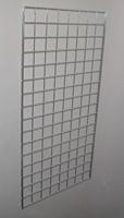2 ft x 5 ft Chrome Grid Wall Panel 3 OC Lot of3