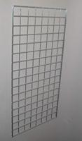 2 ft x 6 ft Chrome Grid Wall Panel 3 OC Lot of3